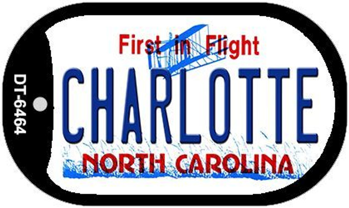 Charlotte North Carolina Wholesale Novelty Metal Dog Tag Necklace DT-6464