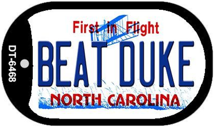 Beat Duke North Carolina Wholesale Novelty Metal Dog Tag Necklace DT-6468
