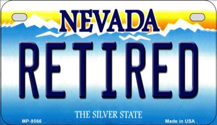Retired Nevada Wholesale Novelty Metal Motorcycle Plate MP-9566