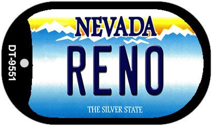 Reno Nevada Wholesale Novelty Metal Dog Tag Necklace DT-9551