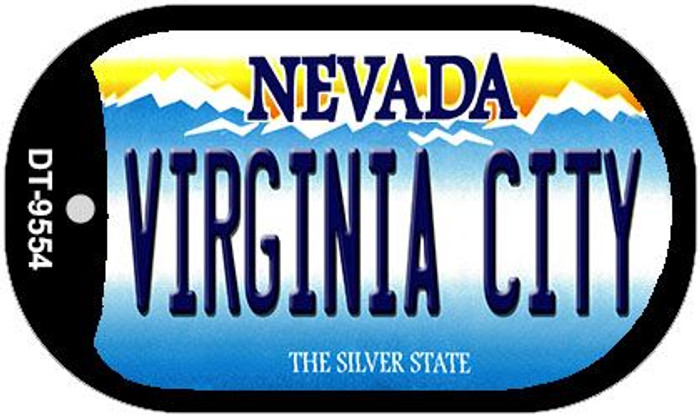 Virginia City Nevada Wholesale Novelty Metal Dog Tag Necklace DT-9554
