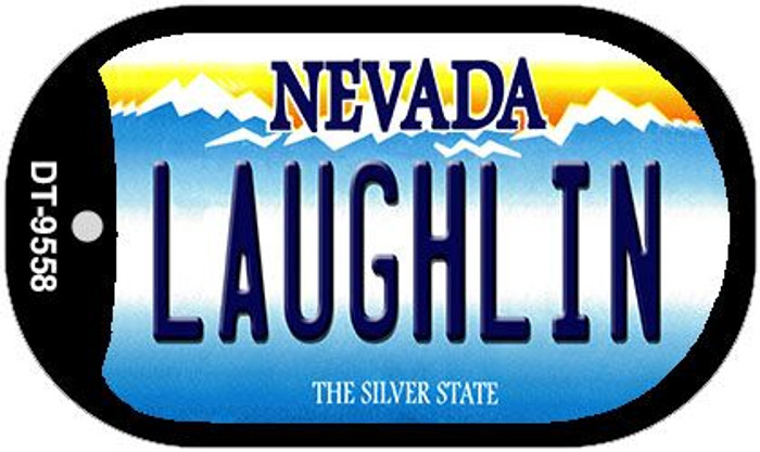 Laughlin Nevada Wholesale Novelty Metal Dog Tag Necklace DT-9558