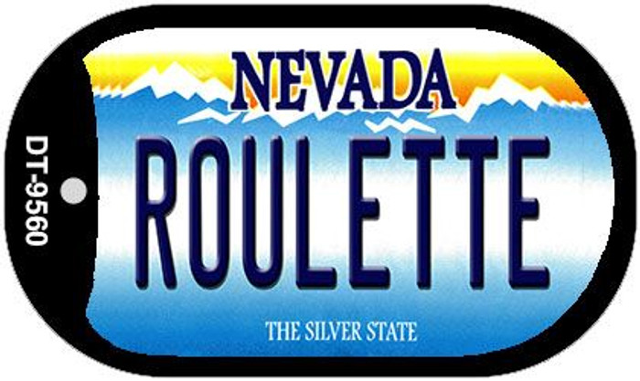 Roulette Nevada Wholesale Novelty Metal Dog Tag Necklace DT-9560