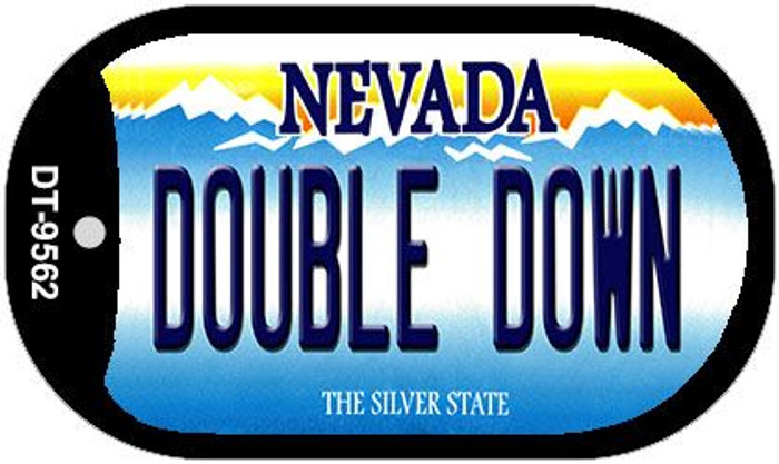 Double Down Nevada Wholesale Novelty Metal Dog Tag Necklace DT-9562