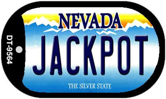 Jackpot Nevada Wholesale Novelty Metal Dog Tag Necklace DT-9564