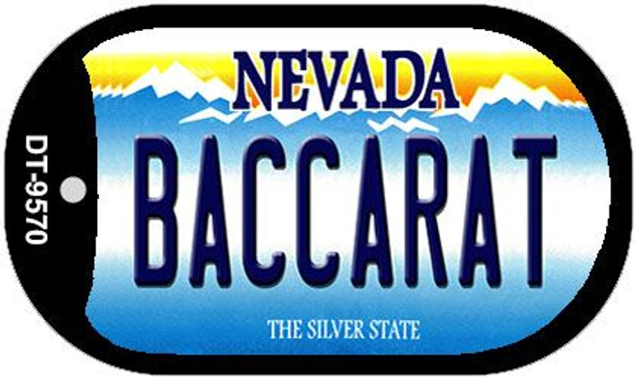 Baccarat Nevada Wholesale Novelty Metal Dog Tag Necklace DT-9570