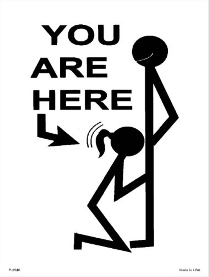 You Are Here Wholesale Metal Novelty Parking Sign P-2040