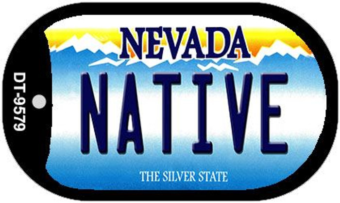 Native Nevada Wholesale Novelty Metal Dog Tag Necklace DT-9579