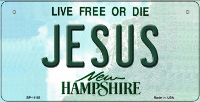 Jesus New Hampshire Wholesale Novelty Metal Bicycle Plate BP-11158