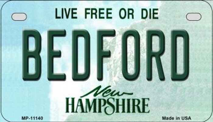 Bedford New Hampshire Wholesale Novelty Metal Motorcycle Plate MP-11140