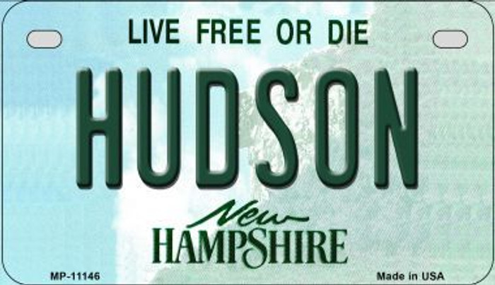 Hudson New Hampshire Wholesale Novelty Metal Motorcycle Plate MP-11146