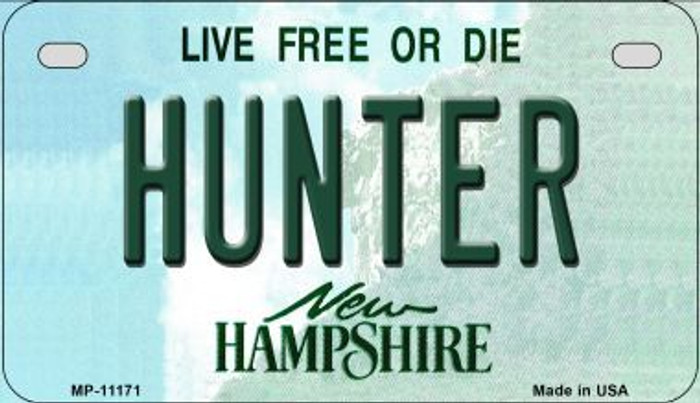 Hunter New Hampshire Wholesale Novelty Metal Motorcycle Plate MP-11171