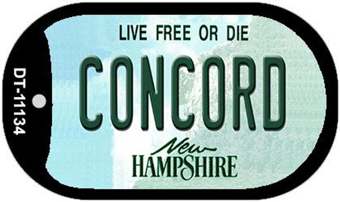 Concord New Hampshire Wholesale Novelty Metal Dog Tag Necklace DT-11134