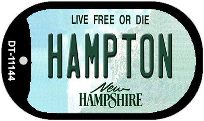 Hampton New Hampshire Wholesale Novelty Metal Dog Tag Necklace DT-11144