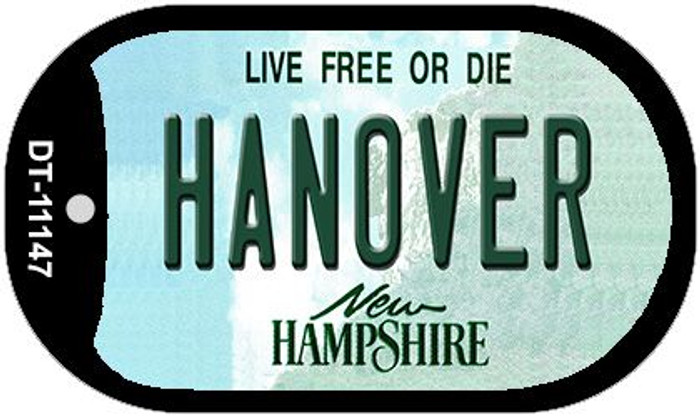 Hanover New Hampshire Wholesale Novelty Metal Dog Tag Necklace DT-11147