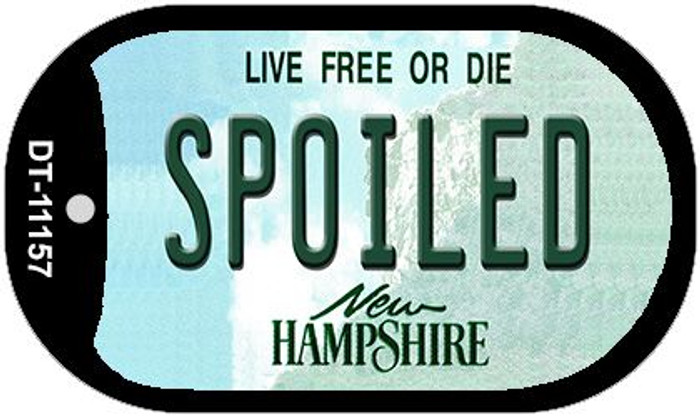 Spoiled New Hampshire Wholesale Novelty Metal Dog Tag Necklace DT-11157
