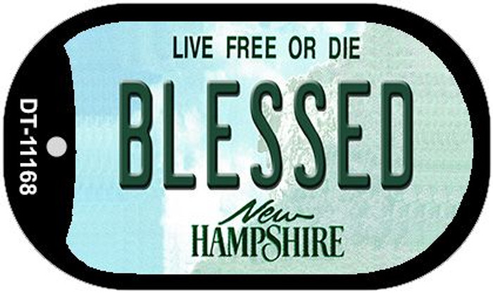 Blessed New Hampshire Wholesale Novelty Metal Dog Tag Necklace DT-11168