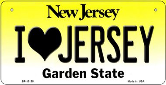 I Love Jersey Wholesale Novelty Metal Bicycle Plate BP-10155