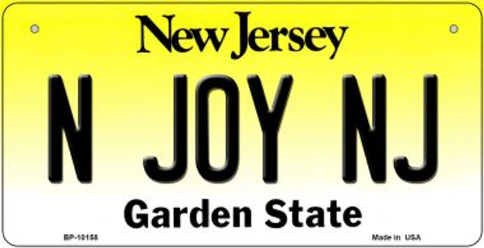 N Joy NJ New Jersey Wholesale Novelty Metal Bicycle Plate BP-10158