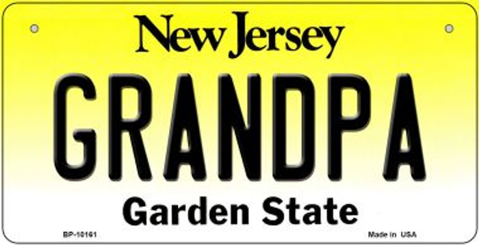 Grandpa New Jersey Wholesale Novelty Metal Bicycle Plate BP-10161
