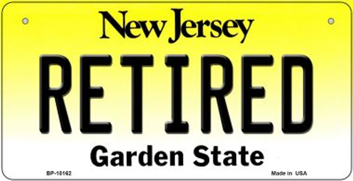 Retired New Jersey Wholesale Novelty Metal Bicycle Plate BP-10162