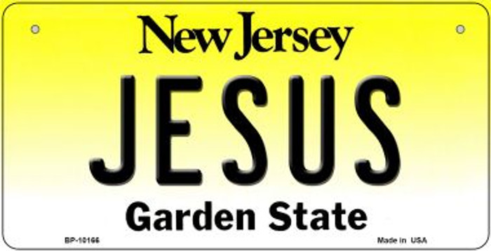 Jesus New Jersey Wholesale Novelty Metal Bicycle Plate BP-10166