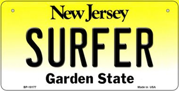 Surfer New Jersey Wholesale Novelty Metal Bicycle Plate BP-10177