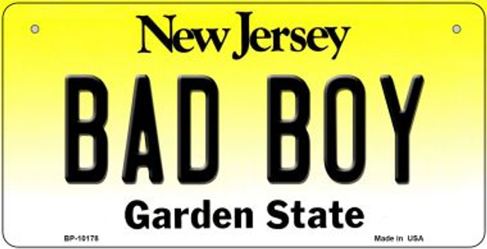 Bad Boy New Jersey Wholesale Novelty Metal Bicycle Plate BP-10178