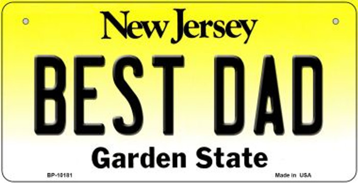Best Dad New Jersey Wholesale Novelty Metal Bicycle Plate BP-10181