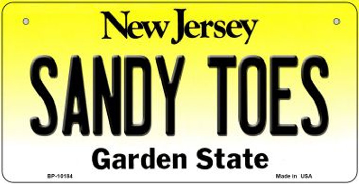 Sandy Toes New Jersey Wholesale Novelty Metal Bicycle Plate BP-10184