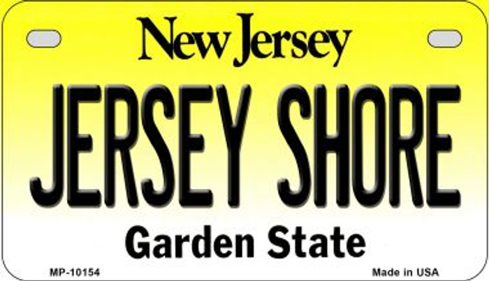 Jersey Shore New Jersey Wholesale Novelty Metal Motorcycle Plate MP-10154