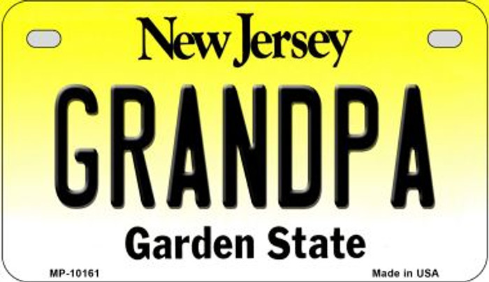 Grandpa New Jersey Wholesale Novelty Metal Motorcycle Plate MP-10161