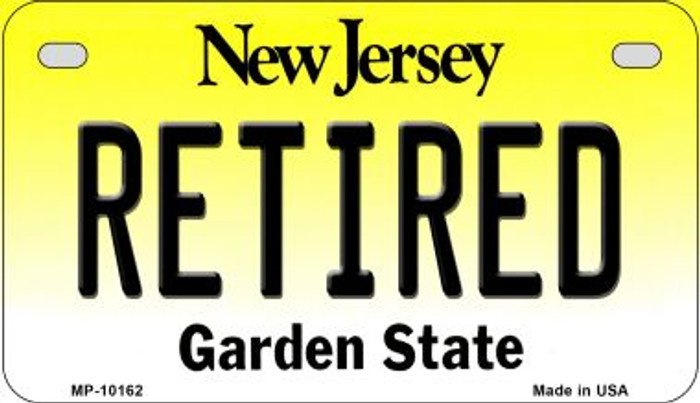 Retired New Jersey Wholesale Novelty Metal Motorcycle Plate MP-10162