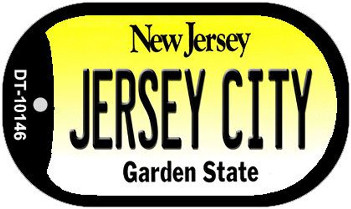 Jersey City New Jersey Wholesale Novelty Metal Dog Tag Necklace DT-10146