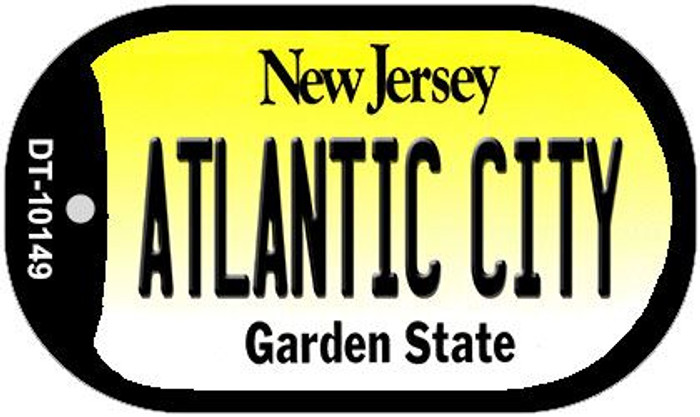 Atlantic City New Jersey Wholesale Novelty Metal Dog Tag Necklace DT-10149