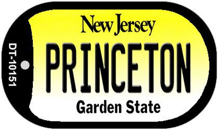 Princeton New Jersey Wholesale Novelty Metal Dog Tag Necklace DT-10151