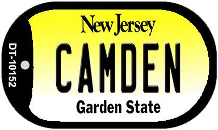 Camden New Jersey Wholesale Novelty Metal Dog Tag Necklace DT-10152