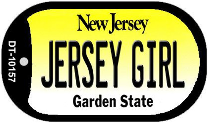 Jersey Girl Wholesale Novelty Metal Dog Tag Necklace DT-10157