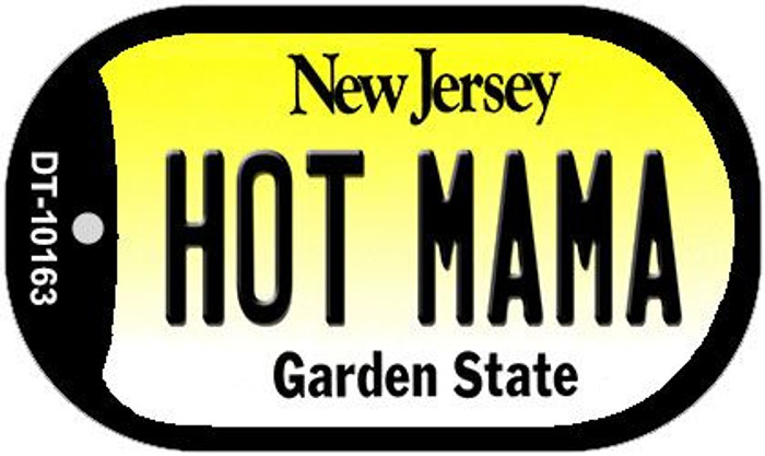 Hot Mama New Jersey Wholesale Novelty Metal Dog Tag Necklace DT-10163
