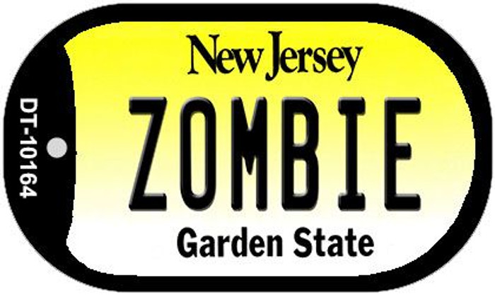 Zombie New Jersey Wholesale Novelty Metal Dog Tag Necklace DT-10164