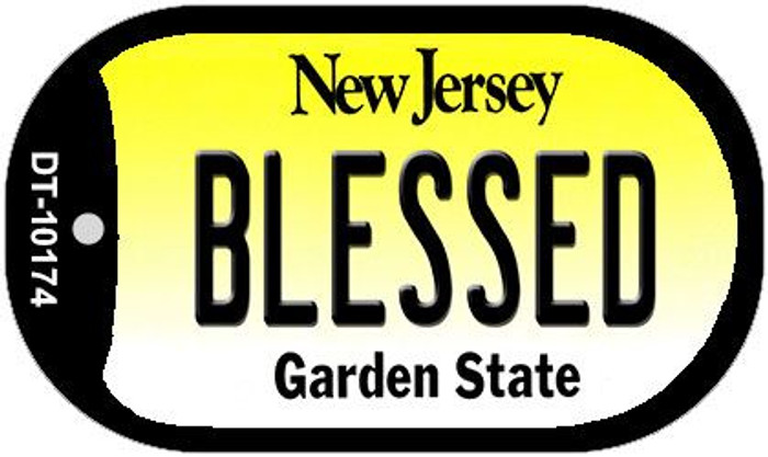Blessed New Jersey Wholesale Novelty Metal Dog Tag Necklace DT-10174
