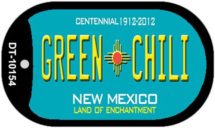 Green Chili Teal New Mexico Wholesale Novelty Metal Dog Tag Necklace DT-1524