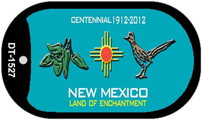 Green Chili and Road Runner Teal New Mexico Wholesale Novelty Metal Dog Tag Necklace DT-1527