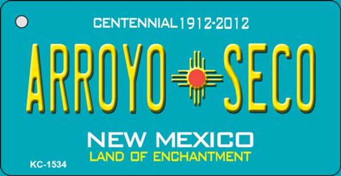 Arroyo Seco Teal New Mexico Wholesale Novelty Metal Key Chain KC-1534
