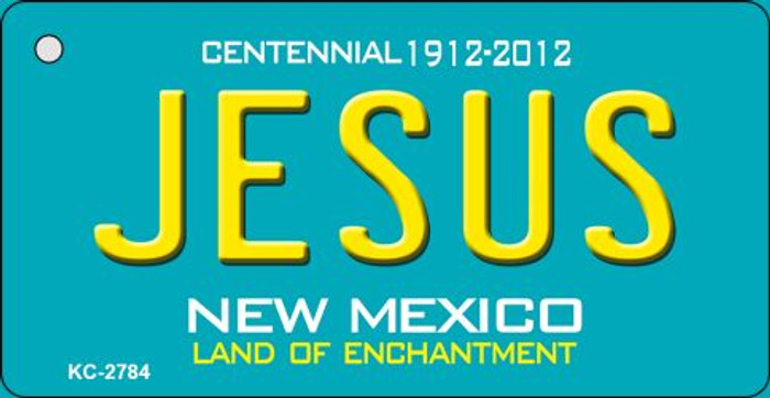 Jesus Teal New Mexico Wholesale Novelty Metal Key Chain KC-2784