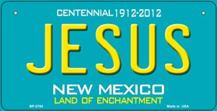 Jesus Teal New Mexico Wholesale Novelty Metal Bicycle Plate BP-2784