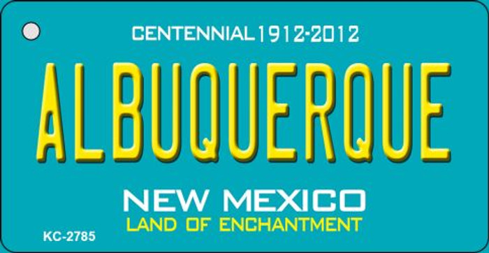 Albuquerque Teal New Mexico Wholesale Novelty Metal Key Chain KC-2785