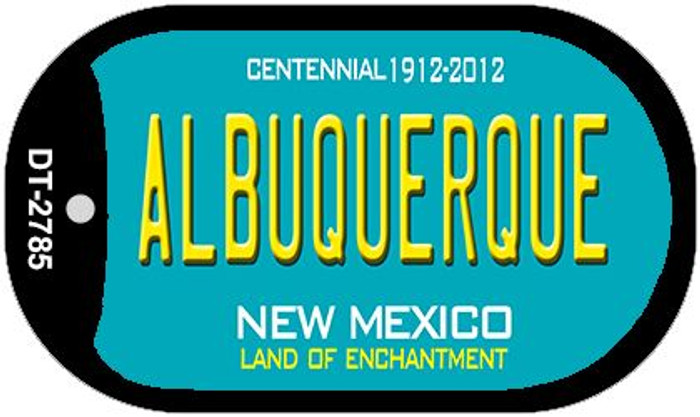 Albuquerque Teal New Mexico Wholesale Novelty Metal Dog Tag Necklace DT-2785