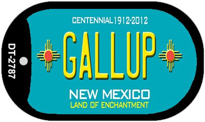 Gallup Teal New Mexico Wholesale Novelty Metal Dog Tag Necklace DT-2787