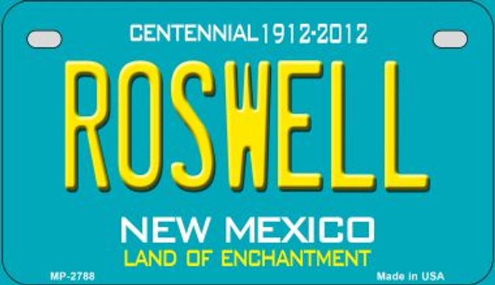 Roswell Teal New Mexico Wholesale Novelty Metal Motorcycle Plate MP-2788